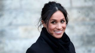CARDIFF, WALES - JANUARY 18:  Meghan Markle departs from a walkabout at Cardiff Castle on January 18, 2018 in Cardiff, Wales.  (Photo by Chris Jackson/Chris Jackson/Getty Images)