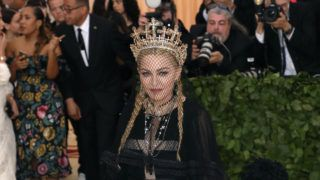 """NEW YORK, NY - MAY 07:  Madonna attends """"Heavenly Bodies: Fashion & the Catholic Imagination"""", the 2018 Costume Institute Benefit at Metropolitan Museum of Art on May 7, 2018 in New York City.  (Photo by Taylor Hill/Getty Images)"""
