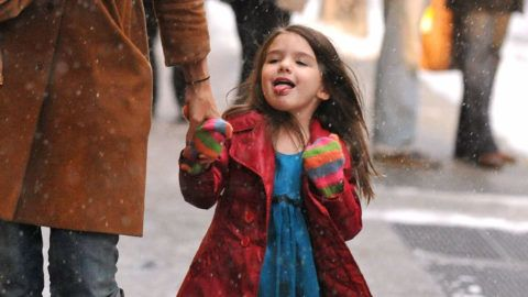NEW YORK - FEBRUARY 10:  Suri Cruise is seen on the streets of Manhattan on February 10, 2010 in New York City.  (Photo by James Devaney/FilmMagic)