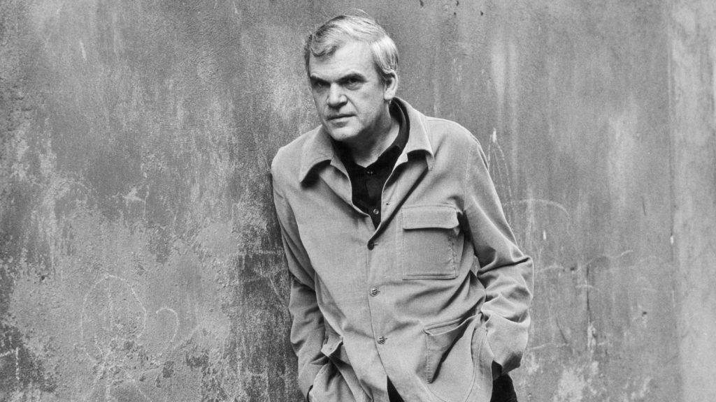 Milan Kundera, Czech writer (deprived of his nationality in 1979) living in France, on April 11, 1979.