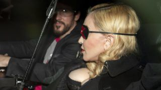 Madonna arrives for a Q&A at the MTV head office in London. April 24, 2019