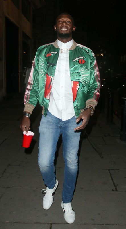 10 April 2019.  Usain Bolt is seen here arriving at Tape nightclub in London and partying with Drake until after 3am.  Pictured: Usain Bolt  Credit: GoffPhotos.com   Ref: KGC-49