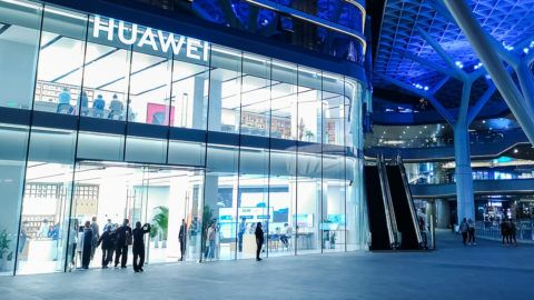 --FILE--View of a store of Chinese tech giant Huawei in Shanghai, China, 8 May 2019. Huawei Technologies Co on Wednesday launched an artificial intelligence-powered database to improve its cloud services as the technology giant continued to make huge software investments amid rising global cybersecurity concerns.