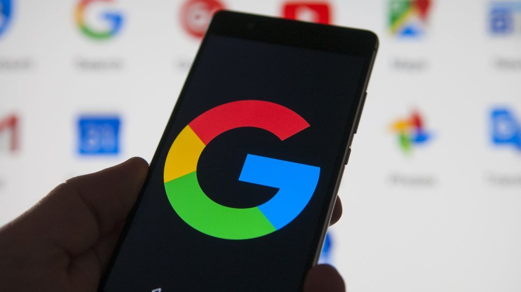 A Google logo is seen on an Android device with Google applications in the background in this photo illustration on February 1, 2018. (Photo by Jaap Arriens/NurPhoto)