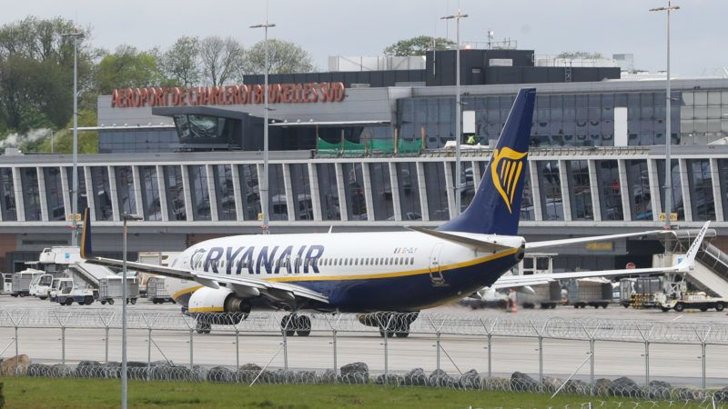 Illustration picture shows a visit to the construction yard of the prolonging of the take off and landing strip at Charleroi Airpot, Wednesday 08 May 2019, in Gosselies, Charleroi. BELGA PHOTO VIRGINIE LEFOUR