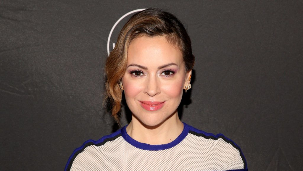 PASADENA, CALIFORNIA - FEBRUARY 10: Alyssa Milano attends Lifetime's Female Directors and Leading Actresses 2019 Winter Television Critics Association Press Tour at The Langham Huntington on February 10, 2019 in Pasadena, California.   Jesse Grant/Getty Images for A+E Networks /AFP