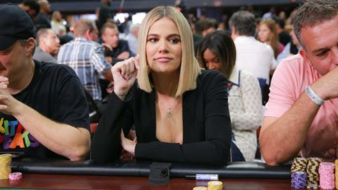 "INGLEWOOD, CA - JULY 29:  Khloe Kardashian attends the first annual ""If Only"" Texas hold'em charity poker tournament benefiting City of Hope at The Forum on July 29, 2018 in Inglewood, California.  (Photo by Rich Fury/Getty Images)"