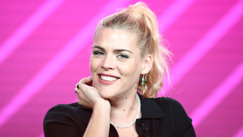 """PASADENA, CALIFORNIA - JANUARY 29: Busy Philipps speaks on the """"Busy Tonight"""" panel during the NBCUniversal portion of the Television Critics Association Winter Press Tour at The Langham Huntington, Pasadena on January 29, 2019 in Pasadena, California. (Photo by Frederick M. Brown/Getty Images)"""