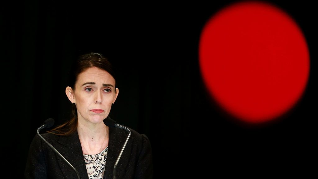 WELLINGTON, NEW ZEALAND - MARCH 21: Prime Minister Jacinda Ardern speaks to media during a press conference at Parliament on March 21, 2019 in Wellington, New Zealand. Prime Minister Jacinda Ardern announced today that New Zealand will ban all military style semi-automatics and assault rifles. The new law follows attacks in which 50 people were killed, and dozens injured after a gunman opened fire on two mosques in Christchurch on Friday, 15 March. The accused attacker, 28-year-old Australian, Brenton Tarrant, has been charged with murder and remanded in custody until April 5. The attack is the worst mass shooting in New Zealand's history. (Photo by Hagen Hopkins/Getty Images)