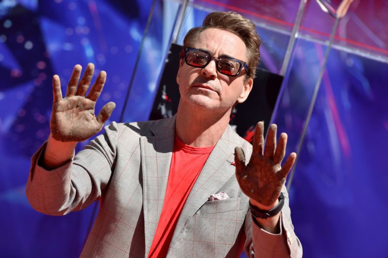 """HOLLYWOOD, CALIFORNIA - APRIL 23: Robert Downey Jr. attends Marvel Studios' """"Avengers: Endgame"""" Cast Handprint Ceremony at TCL Chinese Theatre IMAX on April 23, 2019 in Hollywood, California. (Photo by Axelle/Bauer-Griffin/FilmMagic)"""