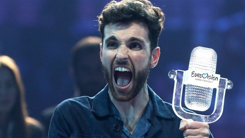 TEL AVIV, ISRAEL, MAY 19, 2019: Contestant Duncan Laurence representing the Netherlands gives a news conference as he wins the 2019 Eurovision Song Contest. Vyacheslav Prokofyev/TASS (Photo by Vyacheslav ProkofyevTASS via Getty Images)