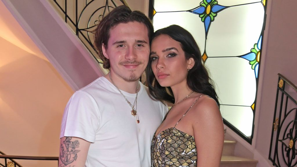 """CAP D'ANTIBES, FRANCE - MAY 22:  Brooklyn Beckham and Hana Cross attend a private dinner hosted by Alejandro Agag to celebrate the World Premiere of Formula E documentary """"And We Go Green"""" during the 72nd Annual Cannes Film Festival on May 22, 2019 in Cap d'Antibes, France.  (Photo by David M. Benett/Dave Benett/Getty Images)"""