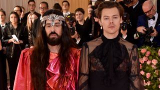 NEW YORK, NEW YORK - MAY 06: Alessandro Michele and Harry Styles attend The 2019 Met Gala Celebrating Camp: Notes on Fashion at Metropolitan Museum of Art on May 06, 2019 in New York City. (Photo by John Shearer/Getty Images for THR)