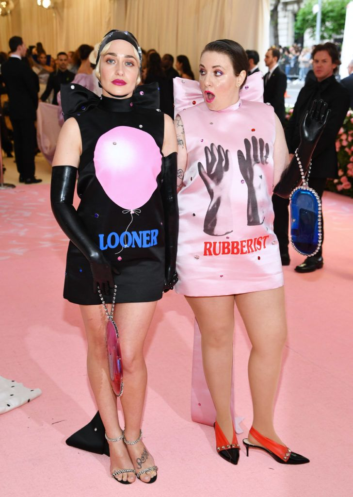 NEW YORK, NEW YORK - MAY 06: Jemima Kirke and Lena Dunham attends The 2019 Met Gala Celebrating Camp: Notes on Fashion at Metropolitan Museum of Art on May 06, 2019 in New York City. (Photo by Dimitrios Kambouris/Getty Images for The Met Museum/Vogue)