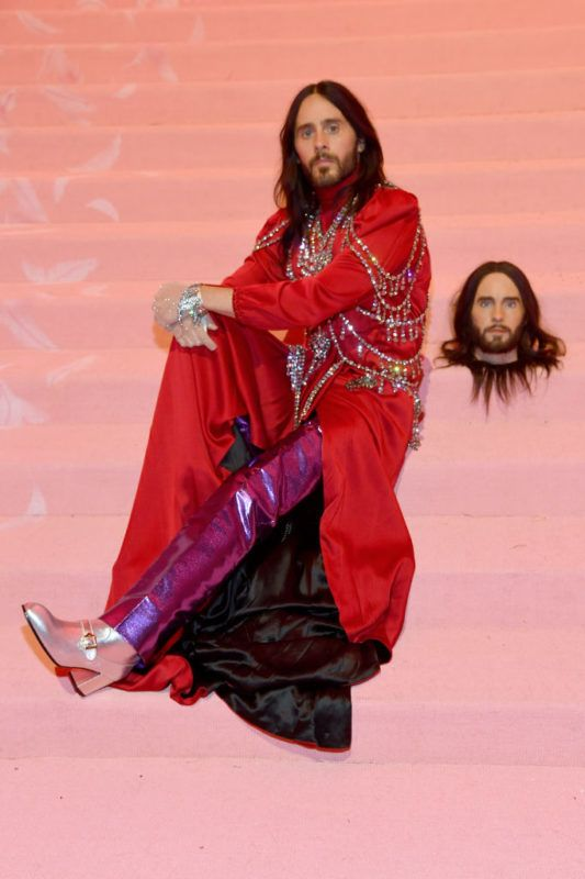 NEW YORK, NEW YORK - MAY 06: (EXCLUSIVE COVERAGE) Jared Leto attends The 2019 Met Gala Celebrating Camp: Notes on Fashion at Metropolitan Museum of Art on May 06, 2019 in New York City. (Photo by Kevin Mazur/MG19/Getty Images for The Met Museum/Vogue)