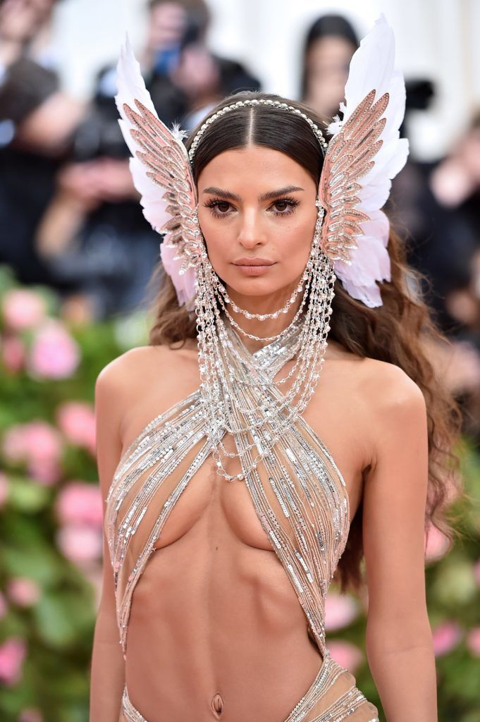 NEW YORK, NEW YORK - MAY 06: Emily Ratajkowski attends The 2019 Met Gala Celebrating Camp: Notes on Fashion at Metropolitan Museum of Art on May 06, 2019 in New York City. (Photo by Theo Wargo/WireImage)