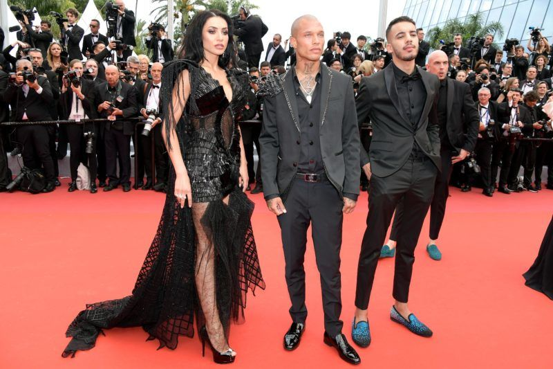"CANNES, FRANCE - MAY 14: (L-R) Andreea Sasu, Jeremy Meeks and Adam Abaida Atarshi attend the opening ceremony and screening of ""The Dead Don't Die"" during the 72nd annual Cannes Film Festival on May 14, 2019 in Cannes, France. (Photo by Dominique Charriau/WireImage)"