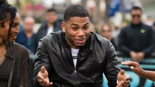 """UNIVERSAL CITY, CALIFORNIA - MAY 15: Nelly visits """"Extra"""" at Universal Studios Hollywood on May 15, 2019 in Universal City, California. (Photo by Noel Vasquez/Getty Images)"""
