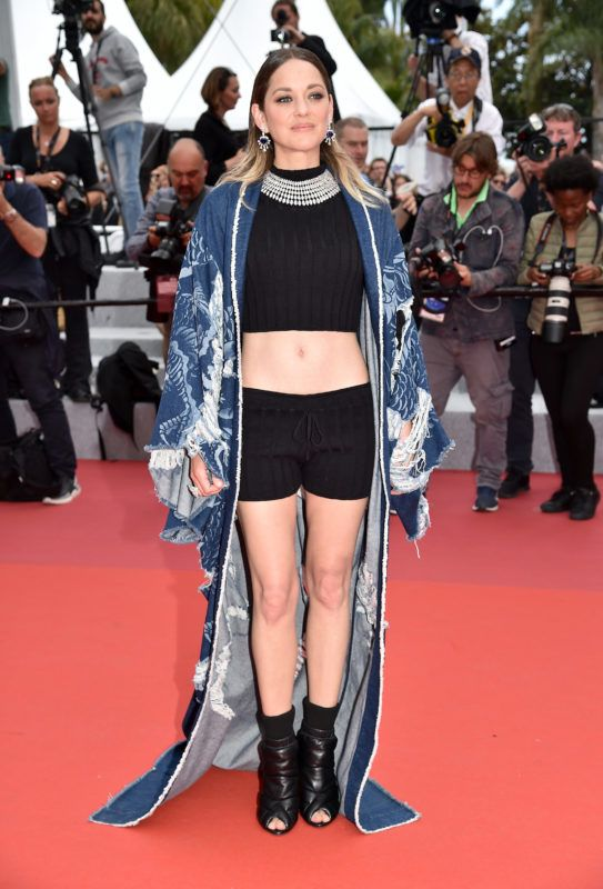 """CANNES, FRANCE - MAY 22: Marion Cotillard departs the screening of """"Matthias Et Maxime (Matthias and Maxime)"""" during the 72nd annual Cannes Film Festival on May 22, 2019 in Cannes, France. (Photo by Dominique Charriau/WireImage)"""