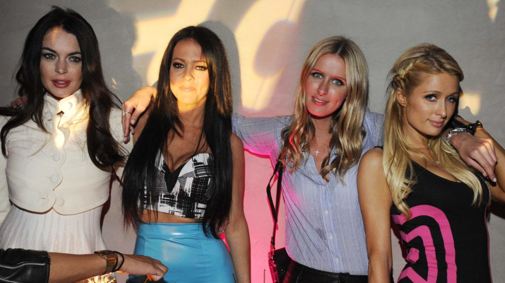 WEST HOLLYWOOD, CA - JUNE 01: (EXCLUSIVE COVERAGE)   Lindsay Lohan, Allison Melnick, Nicky Hilton and Paris Hilton attend the celebration of LA Socialite and Reality TV Personality Allison Melnick's Birthday hosted by elit by Stoli at Private Residence on June 1, 2012 in West Hollywood, California. (Photo by Amy Graves/WireImage)