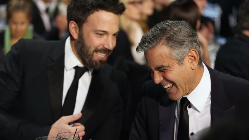 SANTA MONICA, CA - JANUARY 10: Director Ben Affleck and producer George Clooney attend the 18th Annual Critics' Choice Movie Awards held at Barker Hangar on January 10, 2013 in Santa Monica, California.  (Photo by Christopher Polk/Getty Images for BFCA)
