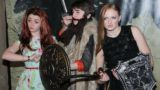 """HOLLYWOOD, CA - MARCH 18:  (L-R) Actors Maisie Williams,Isaac Hempstead Wright and Sophie Turner attend the after party for """"Game Of Thrones"""" Los Angeles Premiere presented by HBO at Hollywood Roosevelt Hotel on March 18, 2013 in Hollywood, California.  (Photo by FilmMagic/FilmMagic)"""
