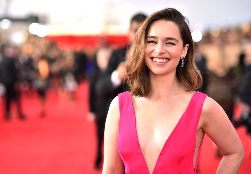 LOS ANGELES, CA - JANUARY 30:  Actress Emilia Clarke attends The 22nd Annual Screen Actors Guild Awards at The Shrine Auditorium on January 30, 2016 in Los Angeles, California. 25650_013  (Photo by Dimitrios Kambouris/Getty Images for Turner)
