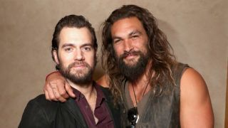 LAS VEGAS, NV - MARCH 29:  Actors Henry Cavill (L) and Jason Momoa at CinemaCon 2017 Warner Bros. Pictures Invites You to ?The Big Picture?, an Exclusive Presentation of our Upcoming Slate at The Colosseum at Caesars Palace during CinemaCon, the official convention of the National Association of Theatre Owners, on March 29, 2017 in Las Vegas, Nevada.  (Photo by Todd Williamson/Getty Images for CinemaCon)