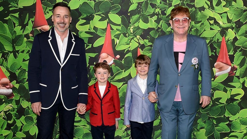 LONDON, ENGLAND - APRIL 22:  attends the 'Sherlock Gnomes' London Family Gala hosted by Sir Elton John and David Furnish at Cineworld Leicester Square on April 22, 2018 in London, England.  (Photo by Stuart C. Wilson/Getty Images for Paramount Pictures)