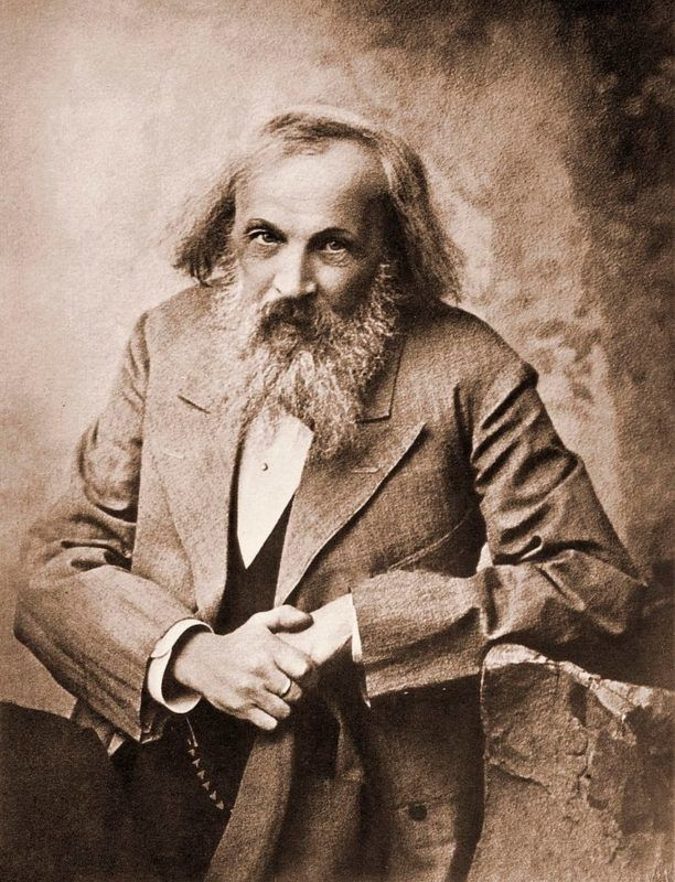 Dmitry Ivanovich Mendeleyev, or Mendeleev (1834-1907), a Russian chemist, who devised the periodic table that classifies chemical elements according to properties.