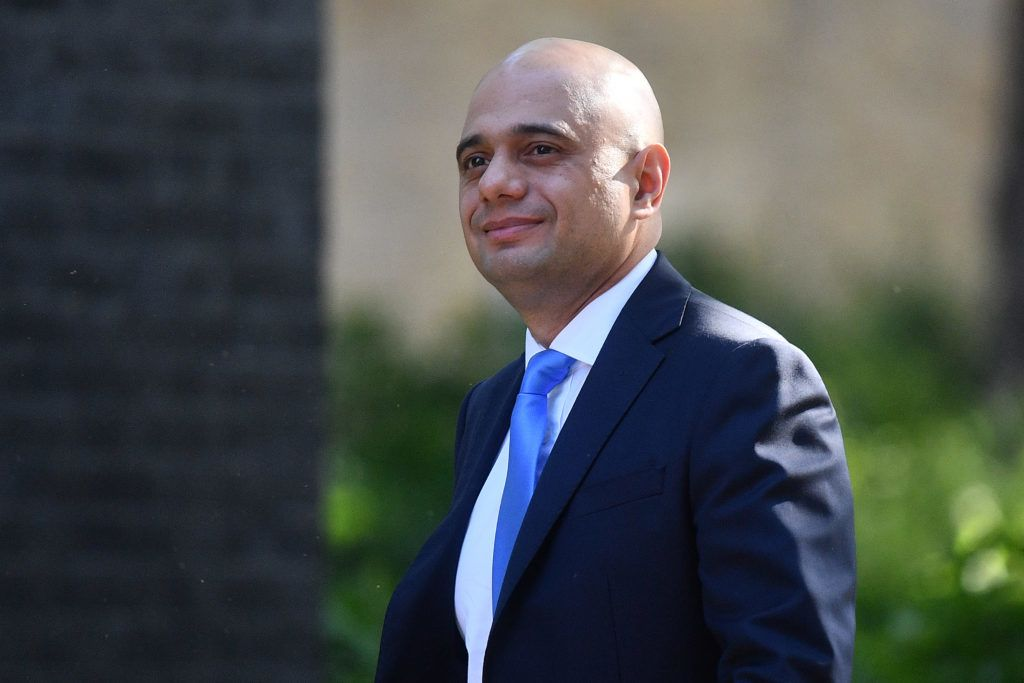 Britain's Home Secretary Sajid Javid arrives to attend the weekly meeting of the Cabinet at 10 Downing Street in central London on May 21, 2019. (Photo by Daniel LEAL-OLIVAS / AFP)