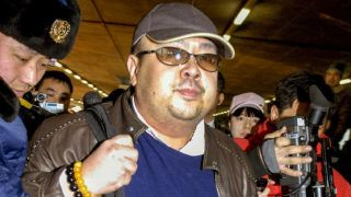 JAPAN OUTA man believed to be North Korean leader Kim Jong-Il's eldest son, Kim Jong-Nam walks among journalists upon his arrival at the Beijing airport on 11 February 2007. The junior Kim, born to Kim Jong-Il and well-known actress Sung Hae-Rim, is said to have lost the trust of his father since his repatriation home after trying to illegally enter Japan on a forged passport in 2001.    AFP PHOTO / JAPAN POOL via JIJI PRESS (Photo by JIJI PRESS / JAPAN POOL / AFP)