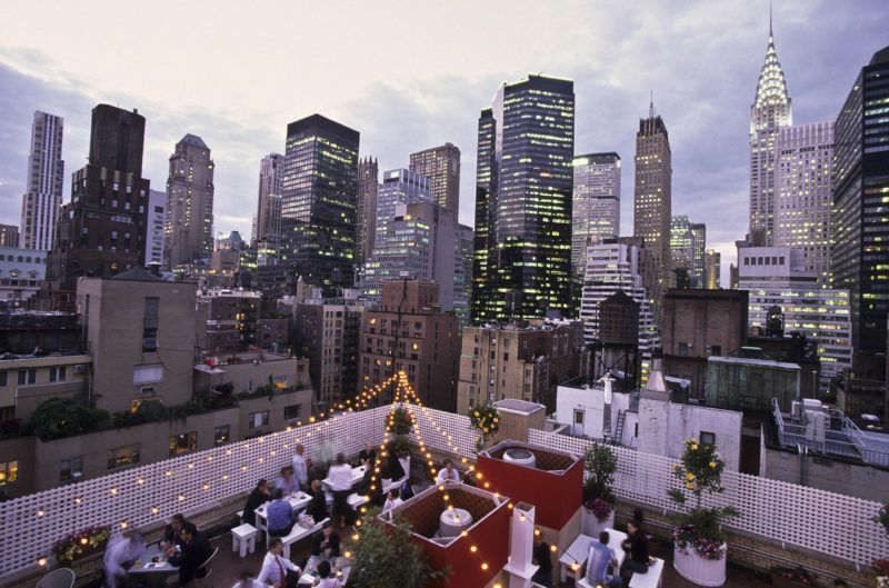 the-  rare view - bar terrace on the rooftop of the Shelburn hotel in midtown  New York  United States