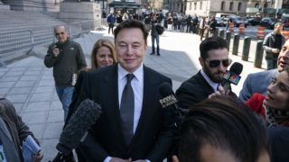 NEW YORK, NY - APRIL 4: Tesla CEO Elon Musk arrives at federal court, April 4, 2019 in New York City. A federal judge will hear oral arguments this afternoon in a lawsuit brought by the U.S. Securities and Exchange Commission (SEC) that seeks to hold Musk in contempt for violating a settlement deal.   Drew Angerer/Getty Images/AFP