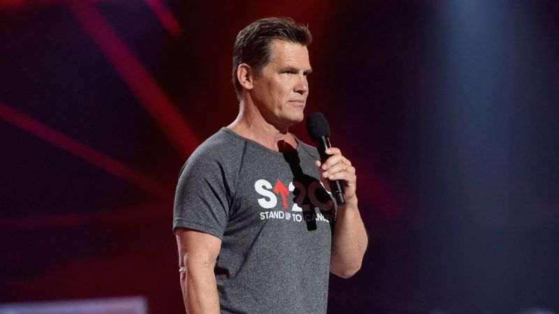 SANTA MONICA, CA - SEPTEMBER 07:  Josh Brolin speaks onstage at the sixth biennial Stand Up To Cancer (SU2C) telecast at the Barkar Hangar on Friday, September 7, 2018 in Santa Monica, California.  (Photo by Alberto E. Rodriguez/Getty Images for Stand Up To Cancer)