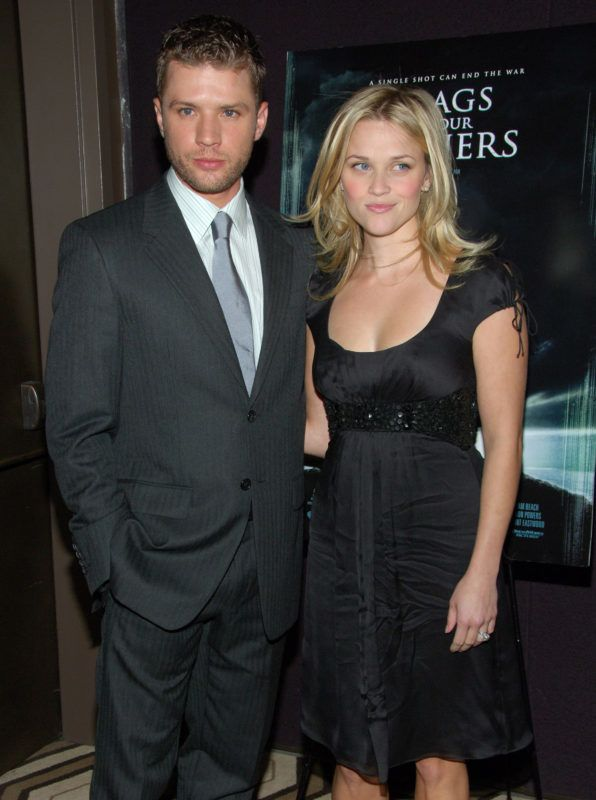 """Ryan Phillippe and Reese Witherspoon during """"Flags Of Our Fathers"""" Special New York Screening - Presented By The Cinema Society and Zenith Watches at Tribeca Grand Hotel - Grand Screening Room in New York City, New York, United States. (Photo by Michael Loccisano/FilmMagic)"""