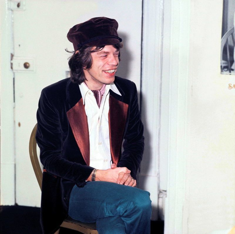 Singer Mick Jagger of the Rolling Stones in London, England in 1970. (Photo by Michael Putland/Getty Images)