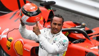 MONTE-CARLO, MONACO - MAY 26: Race winner Lewis Hamilton of Great Britain and Mercedes GP celebrates in parc ferme during the F1 Grand Prix of Monaco at Circuit de Monaco on May 26, 2019 in Monte-Carlo, Monaco. (Photo by Michael Regan/Getty Images)