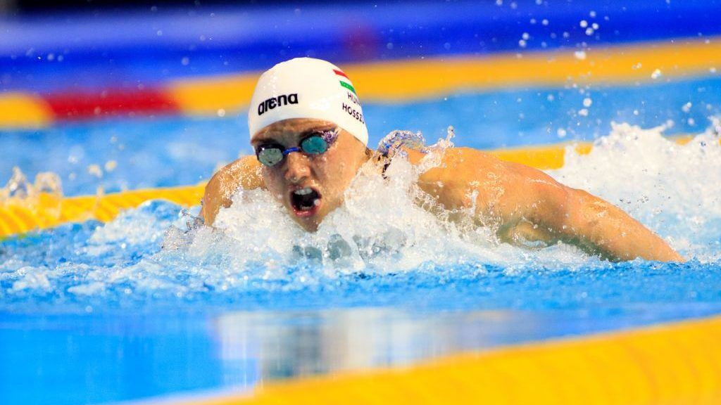 INDIANAPOLIS, INDIANA - JUNE 01: Katinka Hosszu of Hungary swims in the Women's 200m Butterfly during day two of the FINA Champions Swim Series at the Indiana University Natatorium on June 01, 2019 in Indianapolis, Indiana. (Photo by Justin Casterline/Getty Images)