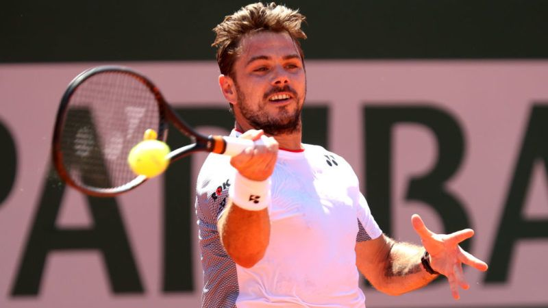 PARIS, FRANCE - JUNE 02: Stan Wawrinka of Switzerland plays a forehand during his mens singles fourth round match against Stefanos Tsitsipas of Greece during Day eight of the 2019 French Open at Roland Garros on June 02, 2019 in Paris, France. (Photo by Adam Pretty/Getty Images)