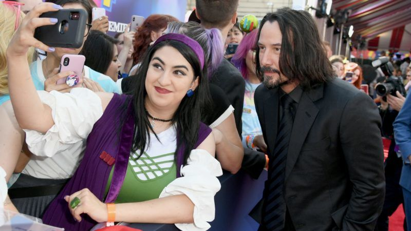 """LOS ANGELES, CALIFORNIA - JUNE 11: Keanu Reeves attends the premiere of Disney and Pixar's """"Toy Story 4"""" on June 11, 2019 in Los Angeles, California. (Photo by Kevin Winter/Getty Images)"""