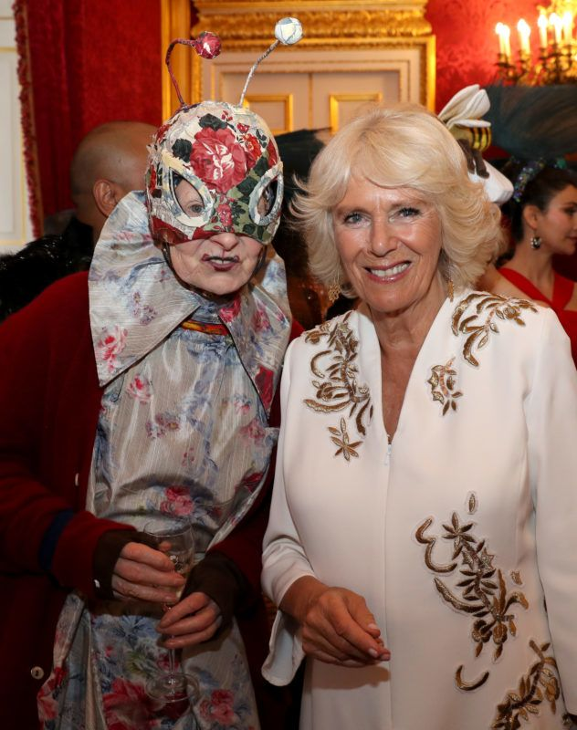 LONDON, ENGLAND - JUNE 13:  Vivienne Westwood and Camilla, Duchess of Cornwall attend a reception hosted by the Duchess and Prince Charles, Prince of Wales for the Elephant Family Animal Ball at Clarence House on June 13, 2019 in London, England. Elephant Family is an international NGO dedicated to protecting the Asian elephant from extinction in the wild.  (Photo by Chris Jackson - WPA Pool/Getty Images)
