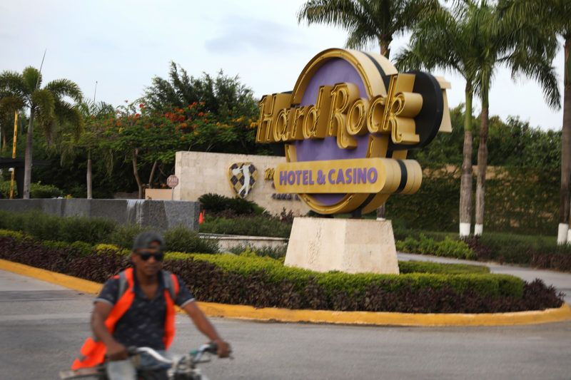 PUNTA CANA, DOMINICAN REPUBLIC - JUNE 20: The entrance of the Hard Rock Hotel & Casino is seen where a tourist died unexpectedly after getting sick two months ago on June 20, 2019 in Punta Cana, Dominican Republic. News reports and the United States State Department are saying that seven Americans have become ill and died this year and two more families are reported to have come forward saying their relatives died unexpectedly last year while staying at resorts in the Dominican Republic. The FBI is assisting the Dominican authorities in the investigation into why tourists are dying. (Photo by Joe Raedle/Getty Images)