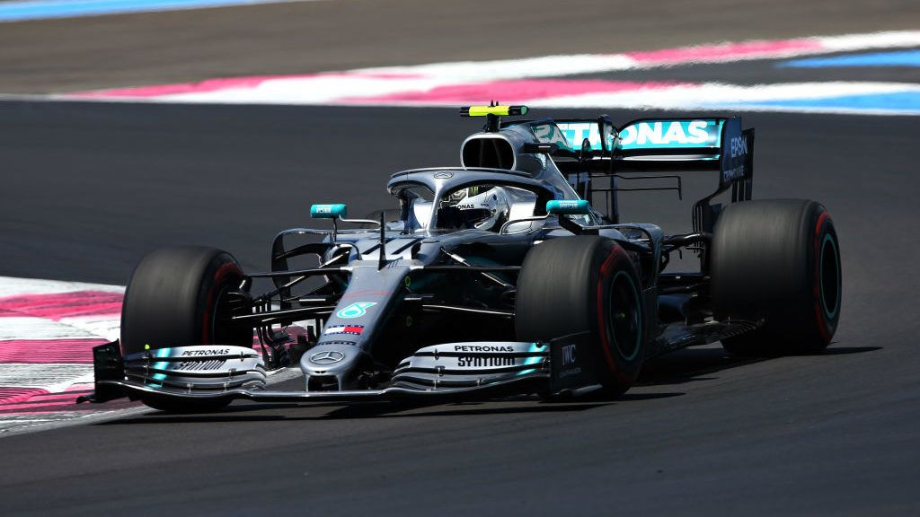 LE CASTELLET, FRANCE - JUNE 22: Valtteri Bottas driving the (77) Mercedes AMG Petronas F1 Team Mercedes W10 on track during final practice for the F1 Grand Prix of France at Circuit Paul Ricard on June 22, 2019 in Le Castellet, France. (Photo by Charles Coates/Getty Images)