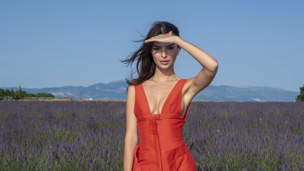 VALENSOLE, FRANCE - JUNE 24: Emily Ratajkowski attends the Jacquemus Spring Summer 2020 show on June 24, 2019 in Valensole, France. (Photo by Arnold Jerocki/WireImage)