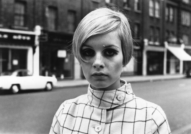 English model Twiggy, originally Lesley Hornby, in a London street.   (Photo by Meagher/Getty Images)