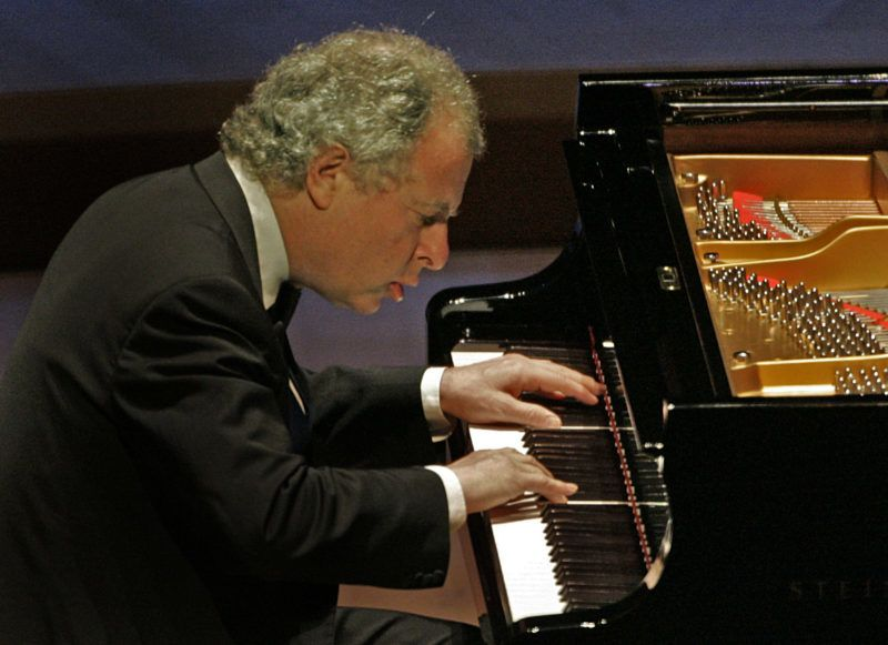 Andras Schiff performing Beethoven's sonatas at Walt Disney Concert Hall.  (Photo by Lawrence K. Ho/Los Angeles Times via Getty Images)