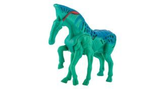 BANGKOK, THAILAND - July 20, 2014 : Direhorses toy character in AVATAR film. There are toy sold as part of McDonald happy Meal. (BANGKOK, THAILAND - July 20, 2014 : Direhorses toy character in AVATAR film. There are toy sold as part of McDonald happy