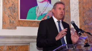 WASHINGTON, DC - APRIL 29: Her Majestys Ambassador to the United States, Sir Kim Darroch speaks during the Capitol File's WHCD Welcome Reception at British Ambassador's Residence on April 29, 2016 in Washington, DC.   Larry French/Getty Images for Capitol File Magazine/AFP