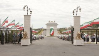 Politicians from more than 40 countries arrives at the Iranian Opposition MEK Headquarters on July 12, 2019, near Duress in Albania to attend the annual Free Iran Conference. Ashraf 3, home to members of the Iranian opposition group People's Mojahedin Organization of Iran (PMOI/MEK). (Photo by Siavosh Hosseini/NurPhoto)